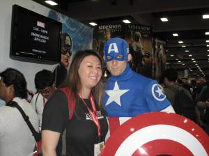 Me with Captain America